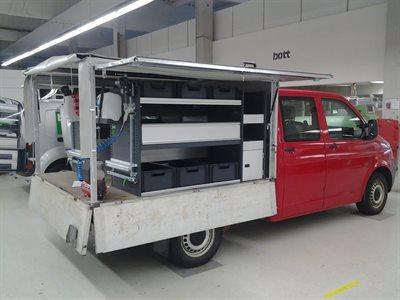 Wv T5 Ladbil Bott bilindretning - billede 1