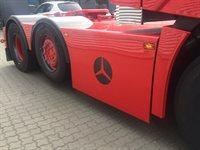 Logo i skørte for luft til catalysator og rustfri kasse bukket for forlænge afgang på catalysator.