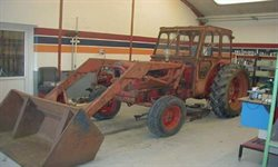 Traktoren inden vi startede med at renovere den.