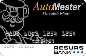 Auto Mester -kundekort